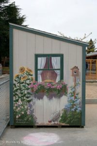 pared flor caseta