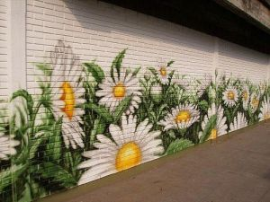 pared flor margarita