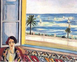 Seated Woman Back Turned to The Open Window 1922 Painting by Henri Matisse; Seated Woman Back Turned to The Open Window 1922 Art Print for sale