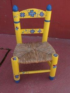 silla enea flores costura