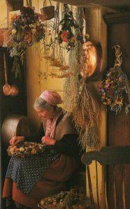 tasha secando flores