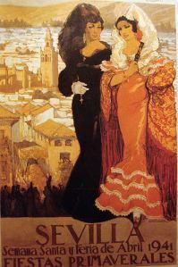 Cartel Feria de Sevilla 1941 - Francisco de Hohenleiter de Castro