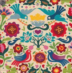 flores y pájaros alegre
