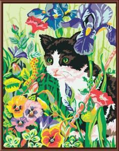 gato-flores