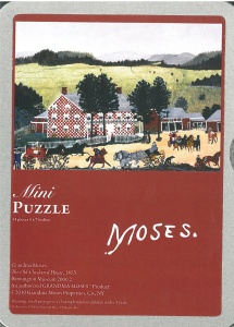 Grandma Moses Old Checkered House puzzle