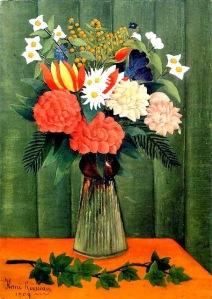 Henri Rousseau, (Francia, 1844-1910) - florero con una rama de hiedra