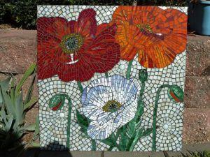 mosaico amapolas tres