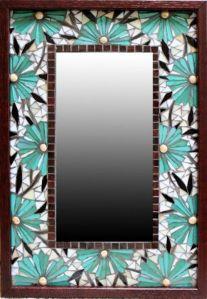mosaico espejo azul