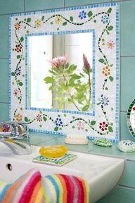 mosaico espejo baño