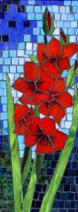 mosaico gladiolos