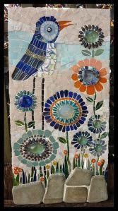 mosaico pájaro