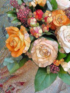 mosaico rosas