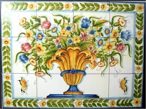 Piastrelle ceramica siciliana: la coccinella.