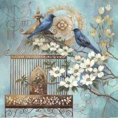 pájaros flores