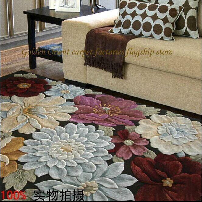 Alfombras de lana con dise o floral creciendoentreflores - Alfombras de diseno moderno ...