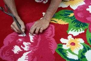 alfombra flores moderna