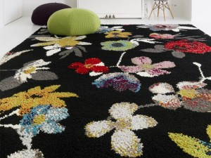 alfombras lana flores
