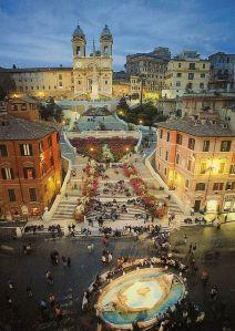 escaleras plaza de españa roma