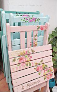 sillas flores