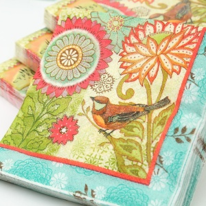 2-x-decoupage-paper-napkins-25-25cm-3-ply-vintage-bird-paper-napkins-for-decoupage-blue