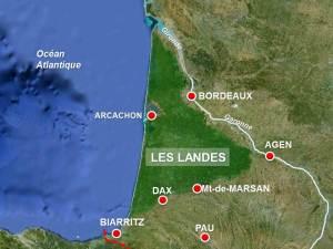 Landes-Map