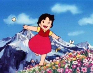 Heidi-corriendo-entre-las-flores