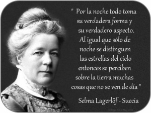 Selma Lagerlöf Por la noche todo toma