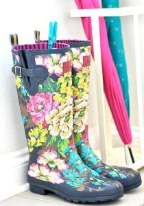 zapatos botas flores