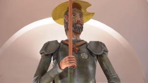 Quijote de mazapán Detalle.