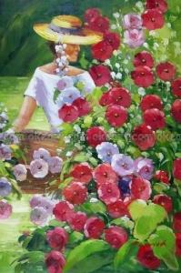 100-dipinto-a-mano-grande-donna-cappello-rose-garden-fiori-rosso-bianco-decorazione-floreale-pittura-a