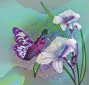disenos-cuadros-mariposa-con-flores-2