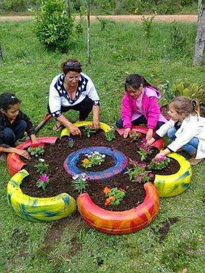 Jardineras Con Ruedas Gallery Of De De De Con Bidones Reciclados
