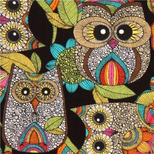 black-owl-fabric-with-colourful-owls-robert-kaufman-176940-1