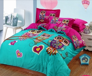 hojas-sabana-ropa-de-cama-ropa-de-cama-cuna-fija-buho-rojo-textil-ropa-de-cama