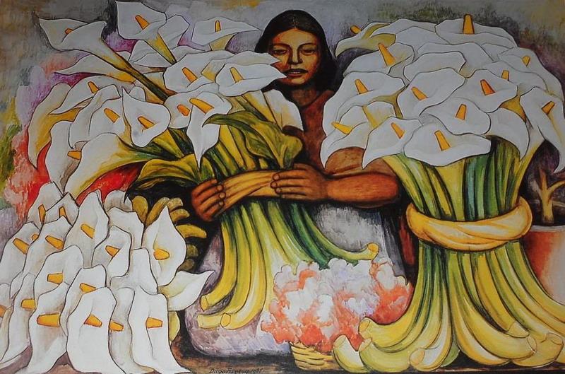 Flores En La Pintura Xliv Las Calas De Diego Rivera Alvarado
