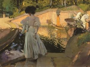 joaquin-sorolla-guardando-i-pesci-1907-olio-su-tela-cm-81-x-1058-collezione-privata
